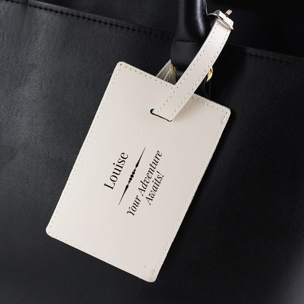 Personalised Classic Cream Luggage Tag