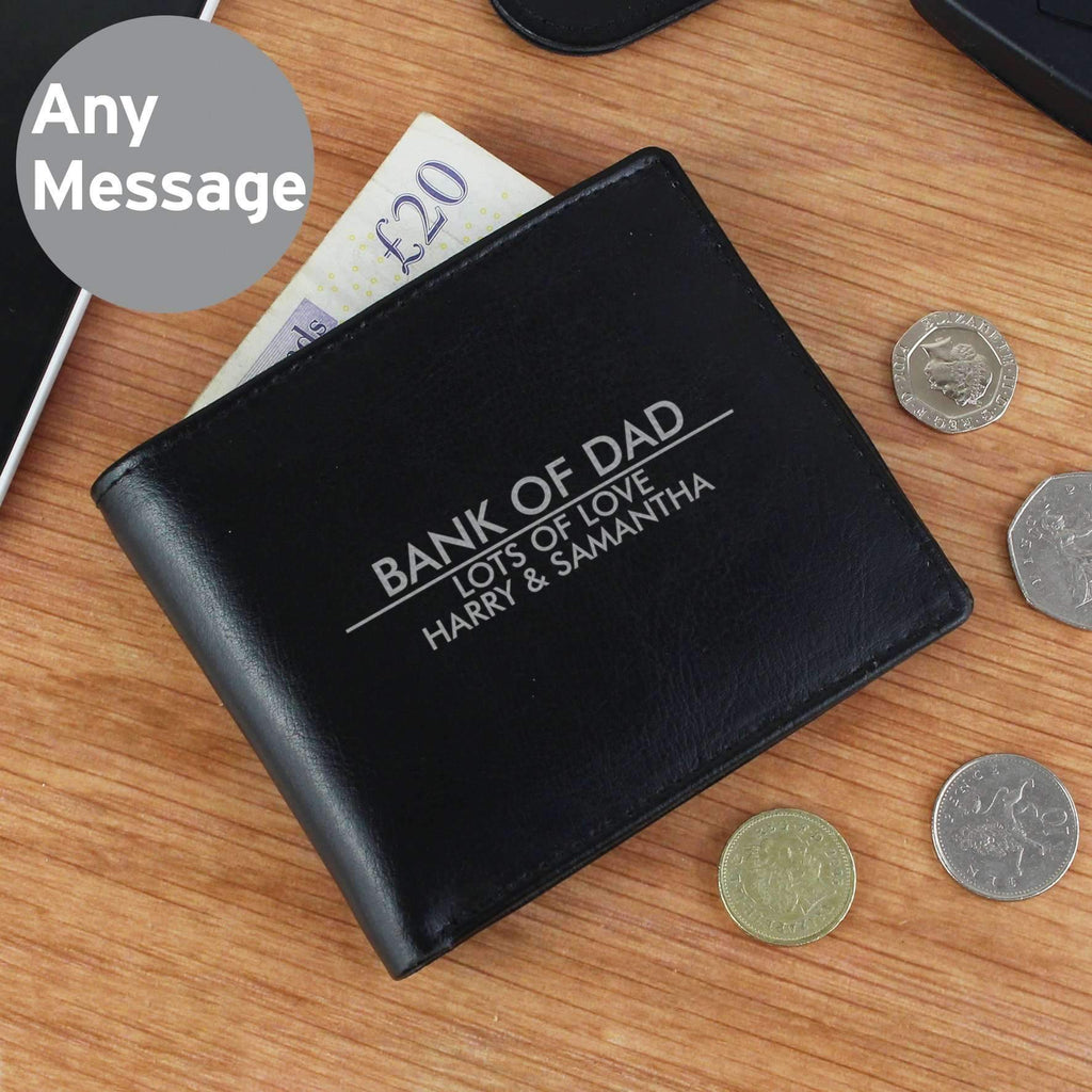 Personalised Classic Leather Wallet Memento