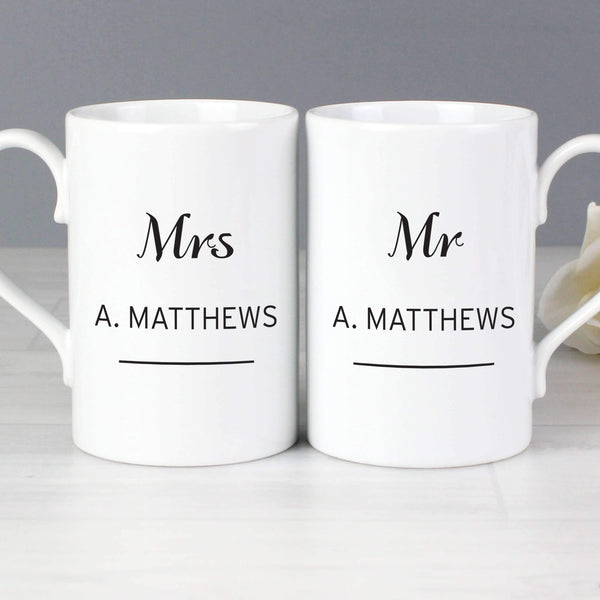 Personalised Classic Mug Set