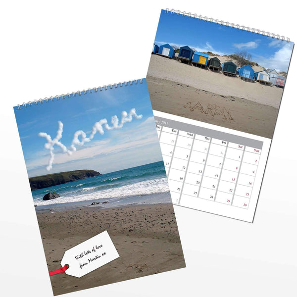 Personalised Coast A4 Wall Calendar