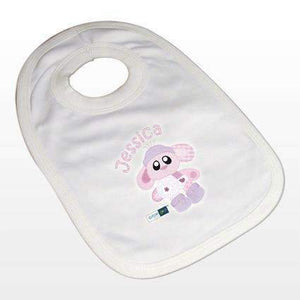 Personalised Cotton Zoo Bobbin the Bunny Bib