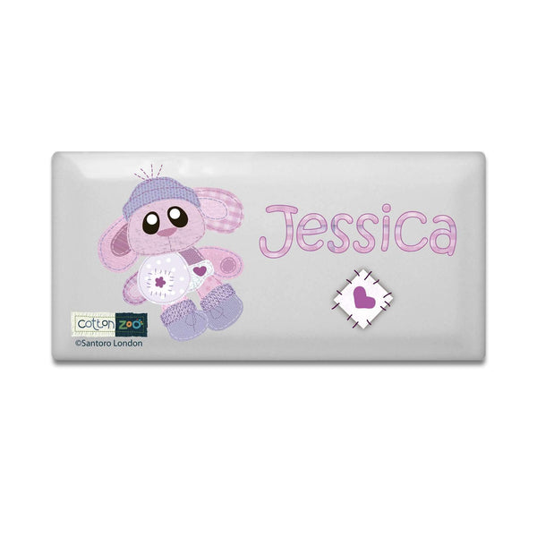 Personalised Cotton Zoo Bobbin the Bunny Door Plaque