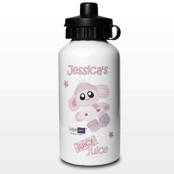 Personalised Cotton Zoo Bobbin the Bunny Drinks Bottle