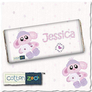 Personalised Cotton Zoo Bobbin the Bunny Milk Chocolate Bar