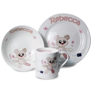 Personalised Cotton Zoo Breakfast Set - Tweed Girl