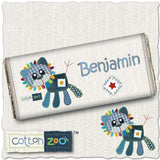Personalised Cotton Zoo Denim the Lion Milk Chocolate Bar