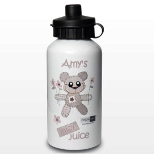 Personalised Cotton Zoo Girls Tweed the Bear Drinks Bottle