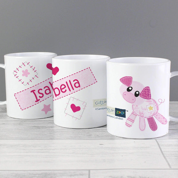 Personalised Cotton Zoo Organdie Plastic Cup