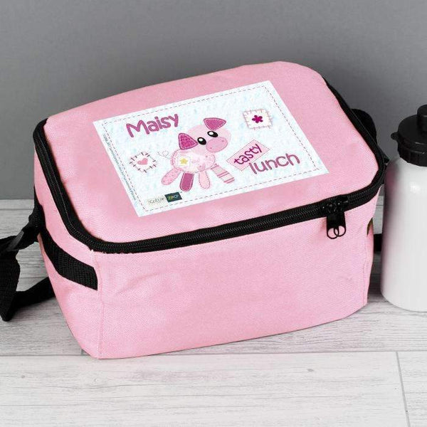 Personalised Cotton Zoo Organdie the Piglet Lunch Bag
