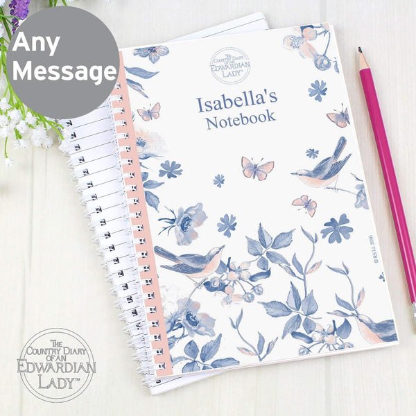 Personalised Country Diary Blue Blossom A5 Notebook