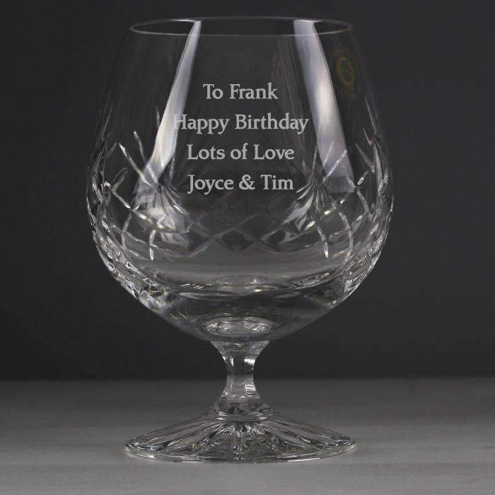 Personalised Crystal Large Brandy Glass