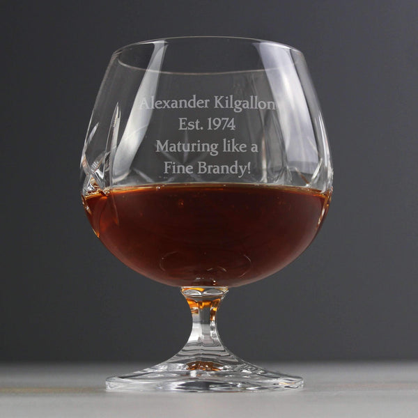 Personalised Crystal Small Brandy Glass
