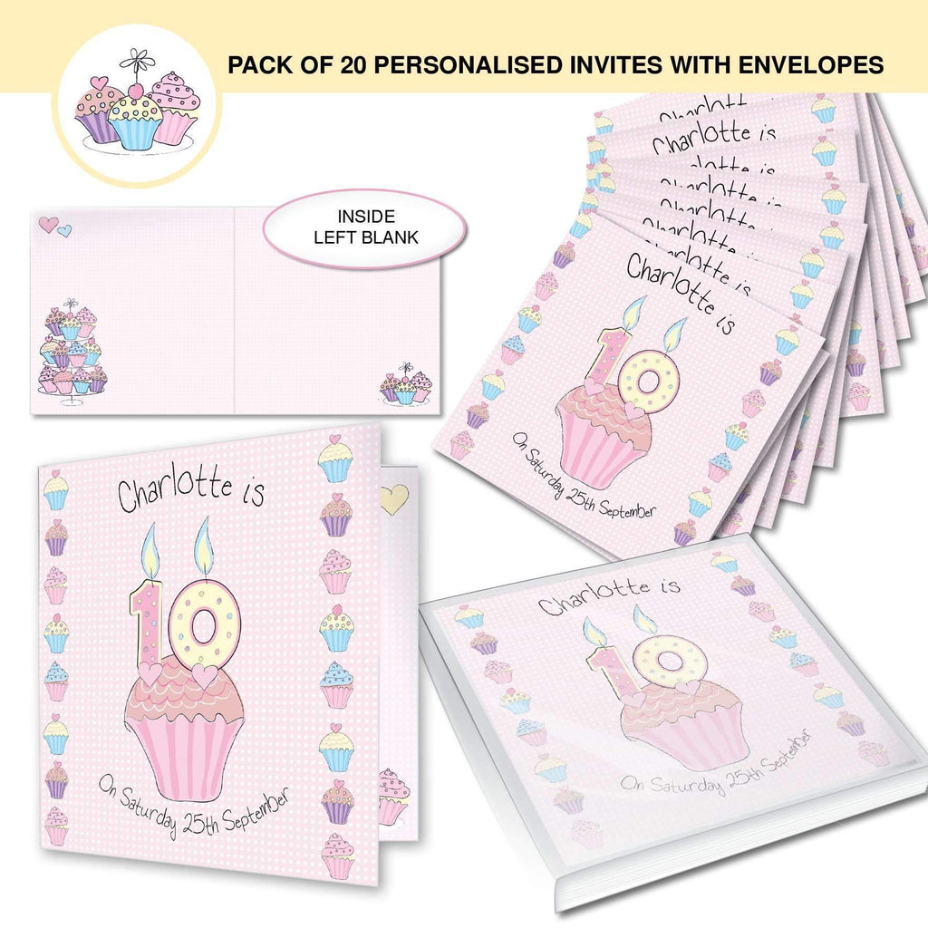 personalised cupcake invitations personalised gifts and photo