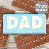 Personalised Dad Pattern Milk Chocolate Bar