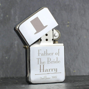 Personalised Decorative Wedding Father of the Bride Lighter
