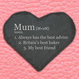 Personalised Definition of Mummy Heart Slate Keepsake