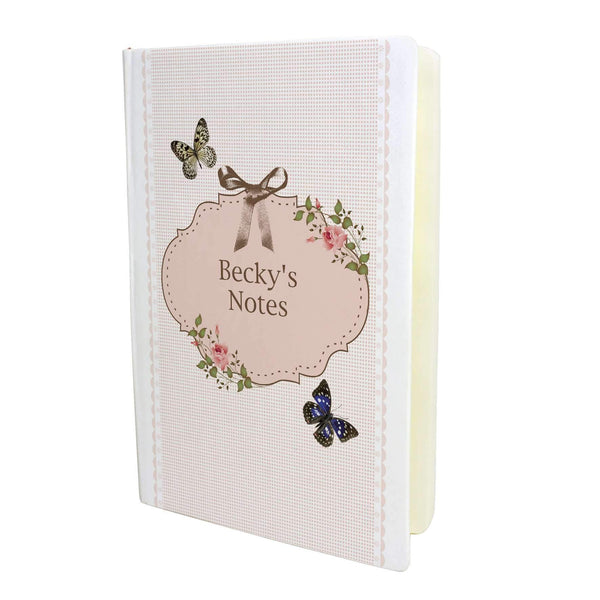 Personalised Delicate Butterfly Hardback A5 Notebook