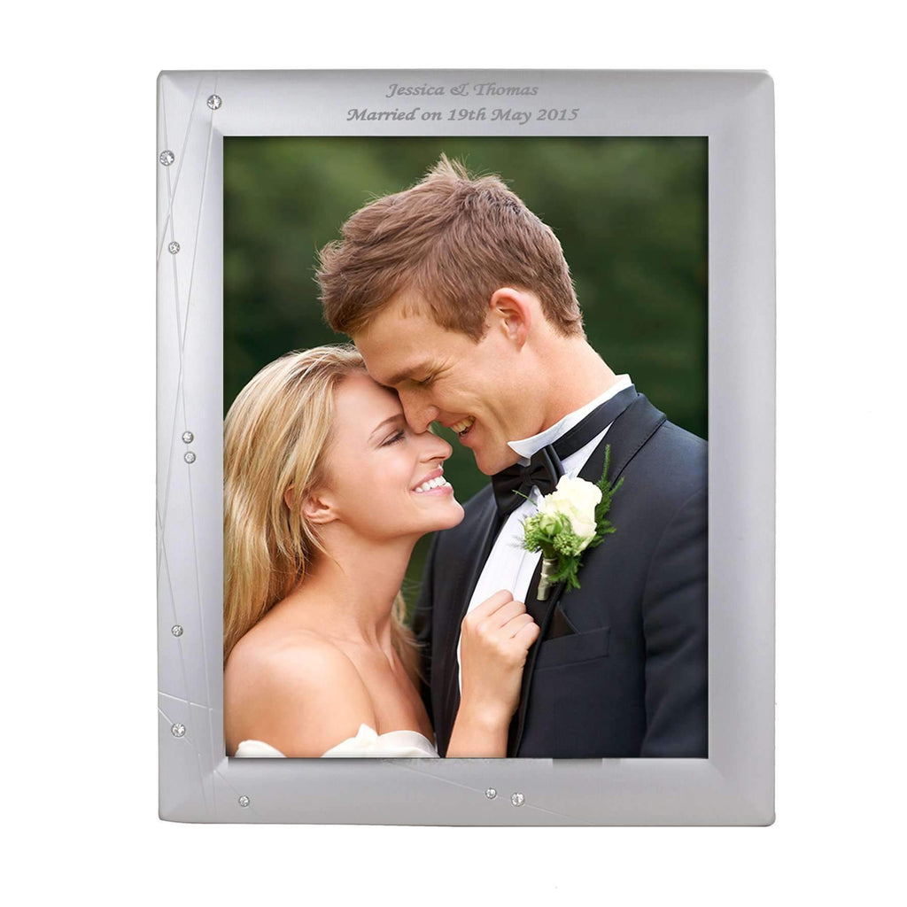Personalised Diamante Swirl 8x10 Photo Frame – Personalised Gifts ...