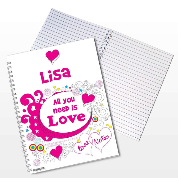 Personalised Doodle A5 Notebook