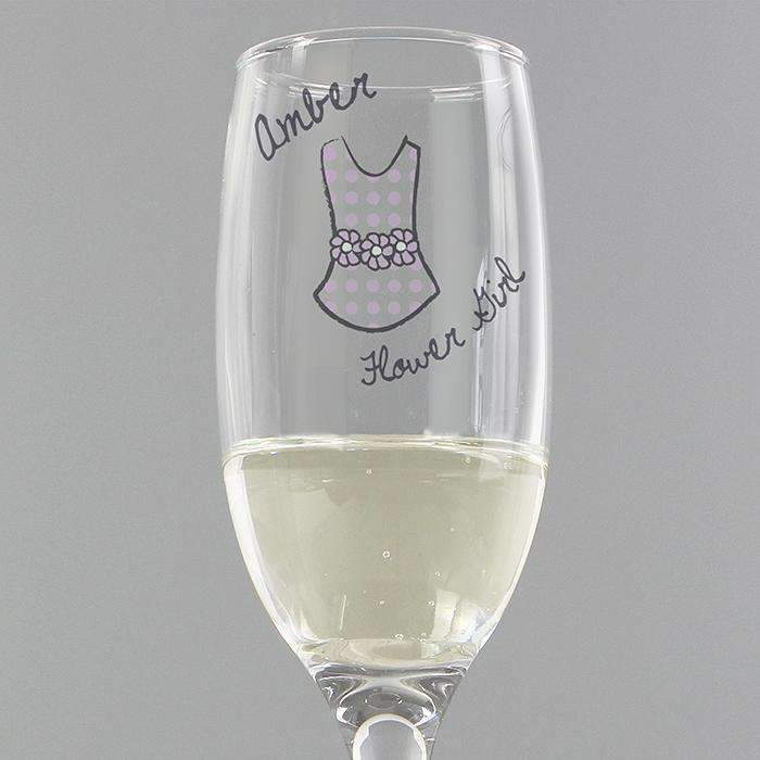 Personalised Dotty Wedding Young Female Flute
