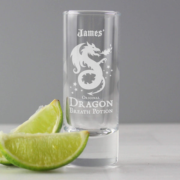 Personalised Dragon Breath Potion Shot Glass