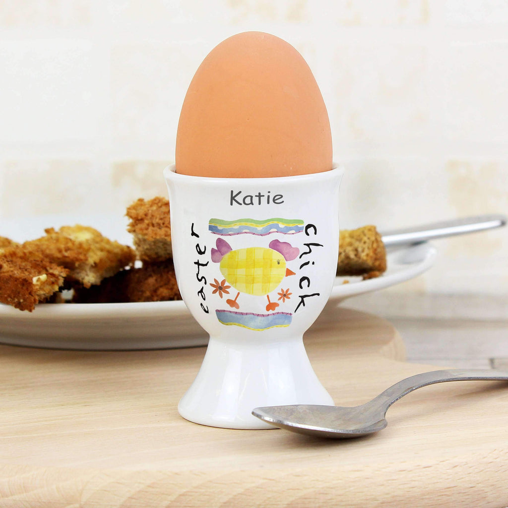 Personalised Easter Chick Egg Cup Memento