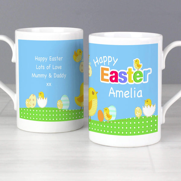 Personalised Easter Chick Slim Mug
