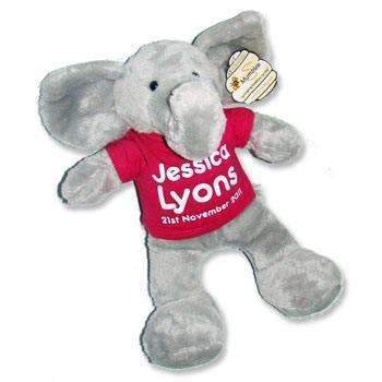 Personalised Elephant Teddy Bear