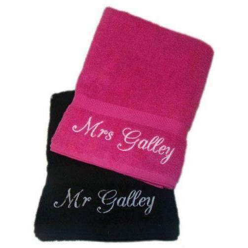 Personalised Embroidered His & Hers Towels