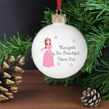 Personalised Fabulous Flower Girl Bauble