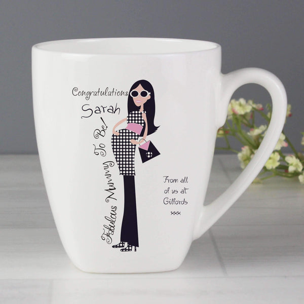 Personalised Fabulous Mummy To Be Latte Mug