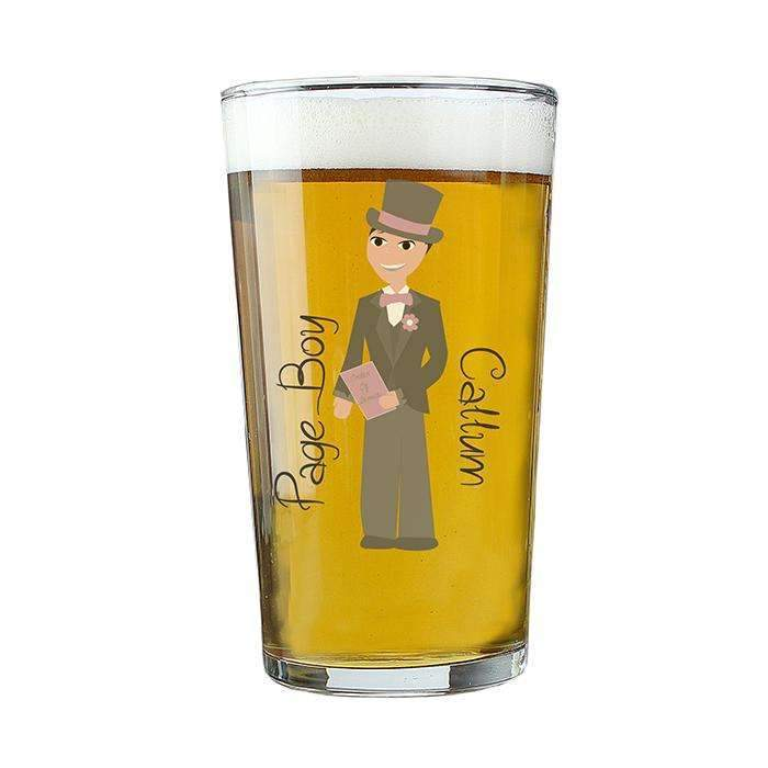 Personalised Fabulous Young Male Pint Glass Memento