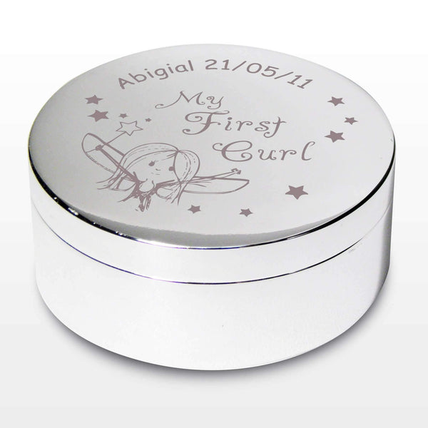 Personalised Fairy My First Curl Trinket Box