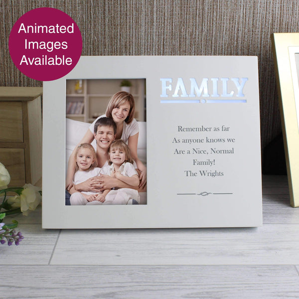 Personalised Family Any Message 4x6 Light Up Frame