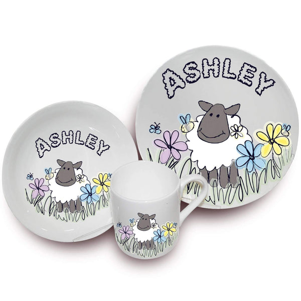 Personalised Farmyard Sheep Breakfast Set