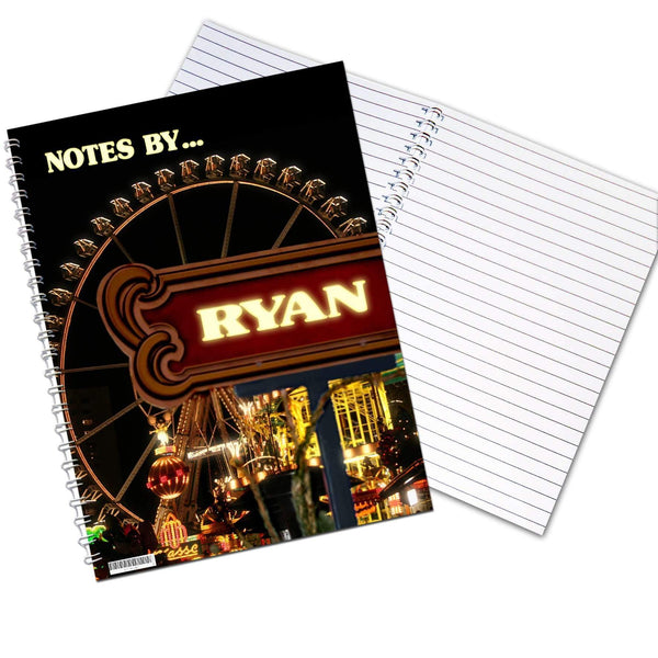 Personalised Ferris Wheel A5 Notebook