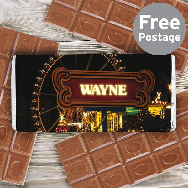 Personalised Ferris Wheel Milk Chocolate Bar
