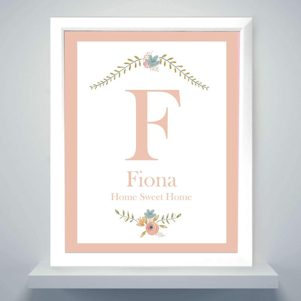 Personalised Floral Bouquet Poster Frame
