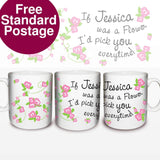 Personalised Floral Pattern Mug