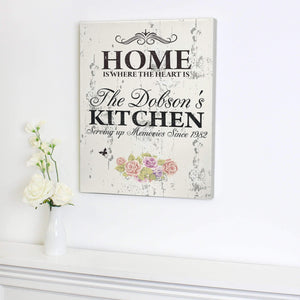 Personalised Floral Shabby Chic Canvas
