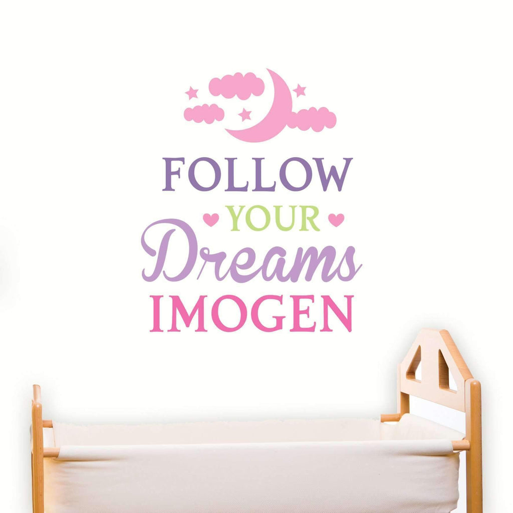 Personalised Follow Your Dreams Pink Wall Art  sc 1 st  Always Personal & Personalised Follow Your Dreams Pink Wall Art u2013 Personalised Gifts ...