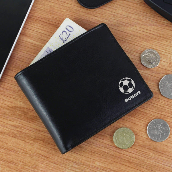 Personalised Football Leather Wallet
