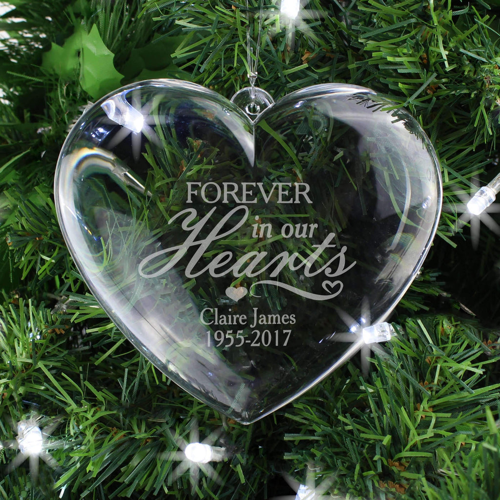 Personalised Forever in Our Hearts Acrylic Heart Decoration