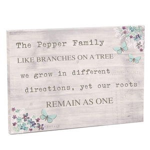 Personalised Forget me not Canvas