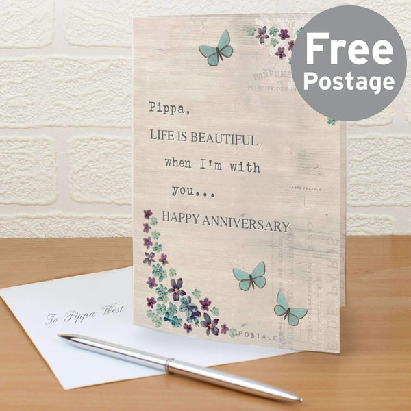 Personalised Forget Me Not Card