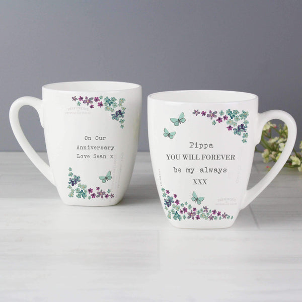 Personalised Forget me not Latte Mug