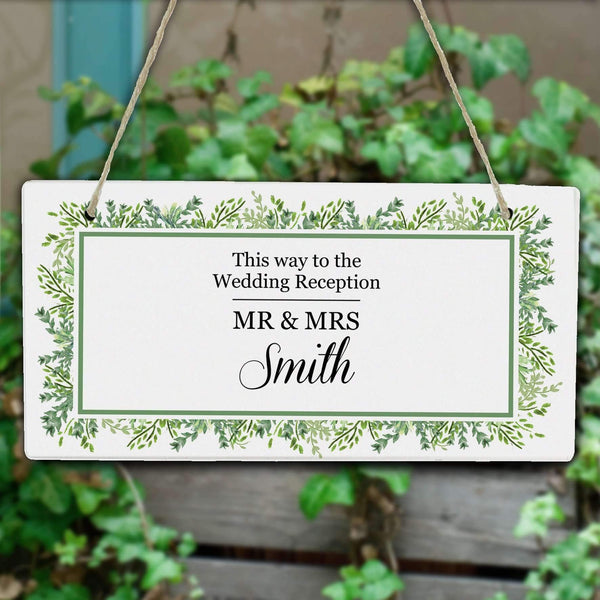 Personalised Fresh Botanical Wooden Sign
