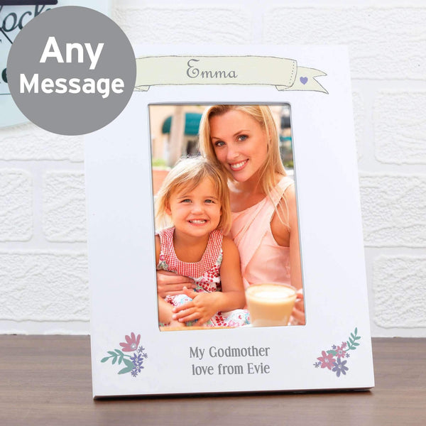 Personalised Garden Bloom 4x6 White Photo Frame