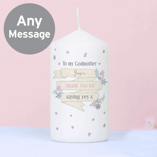Personalised Garden Bloom Candle