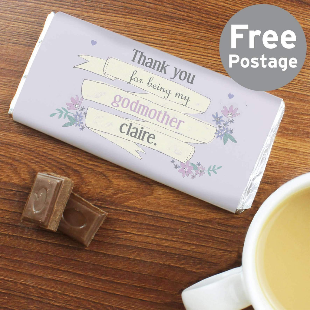 Personalised Garden Bloom Milk Chocolate Bar